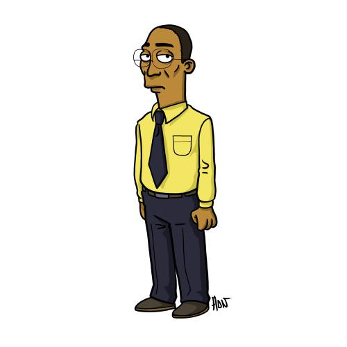 "Gustavo « Gus » Fring from ""Breaking Bad / Simpsonized by ADN"