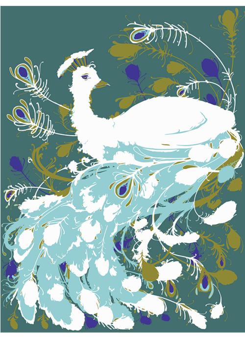 Le paon blanc, bientôt en tee…