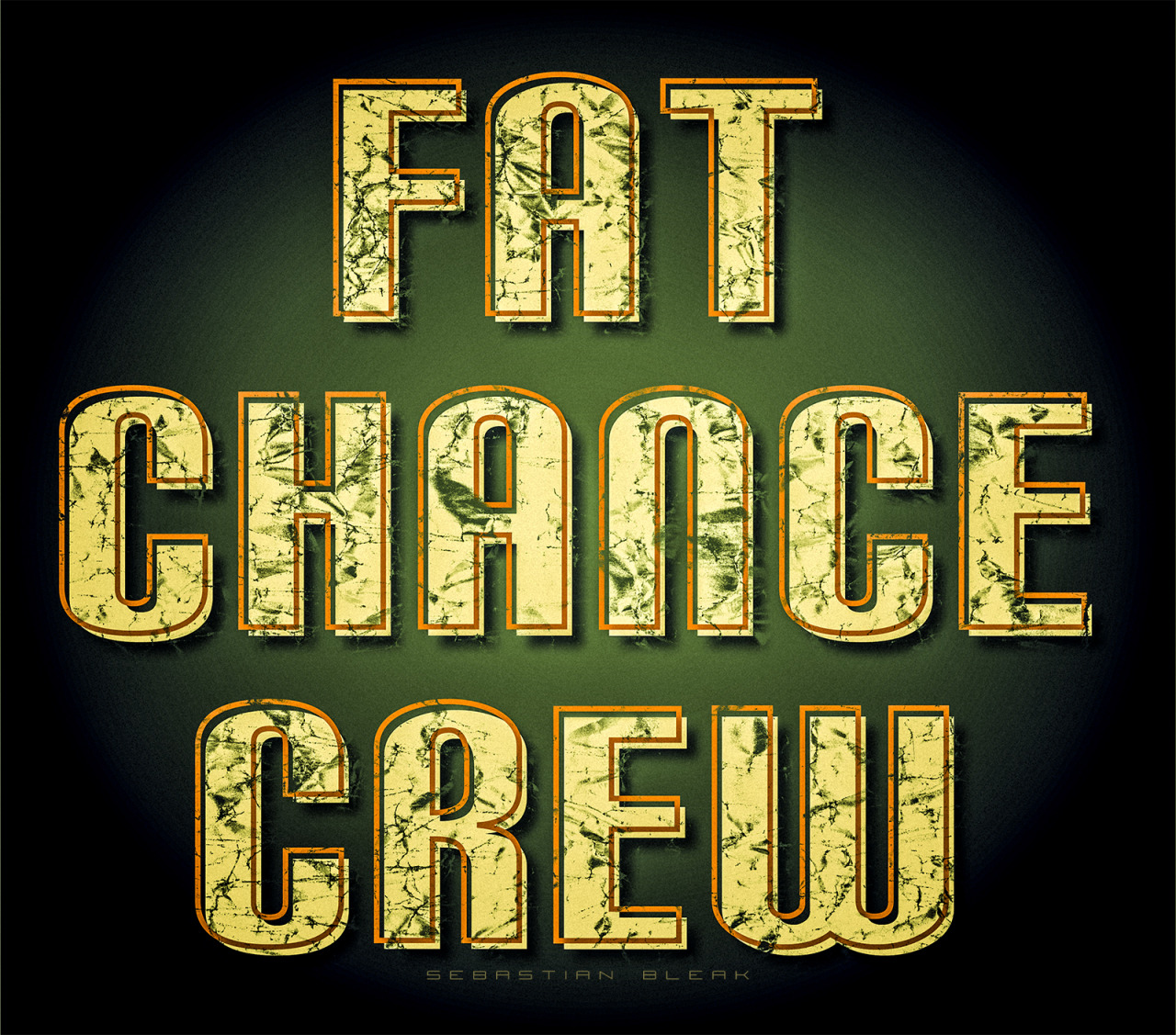 Fat Chance Crew text Adobe Illustrator
