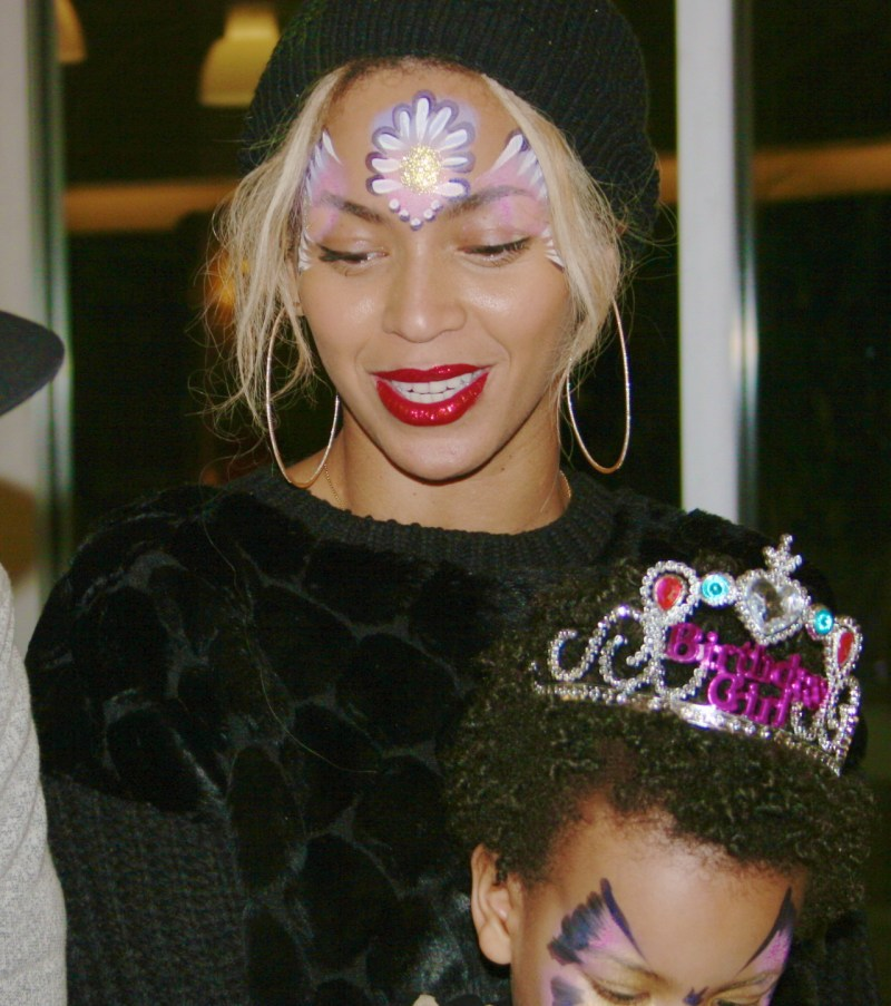 beyonce painted face birthday party