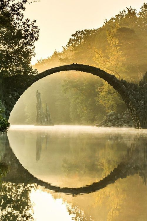 Ancient Bridge Rakotzbrücke, Kromlau, Germany / Amazing Pictures - Amazing Pictures, Images, Photography from Travels All Aronud the World