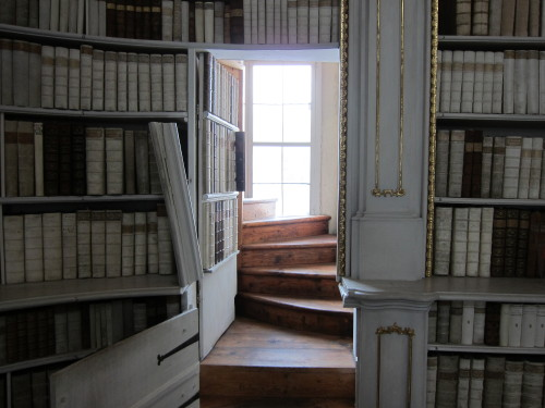 <br /> One of the secret doors of theStift Admont library, Austria.</p> <p>A perfect place to hide and read.