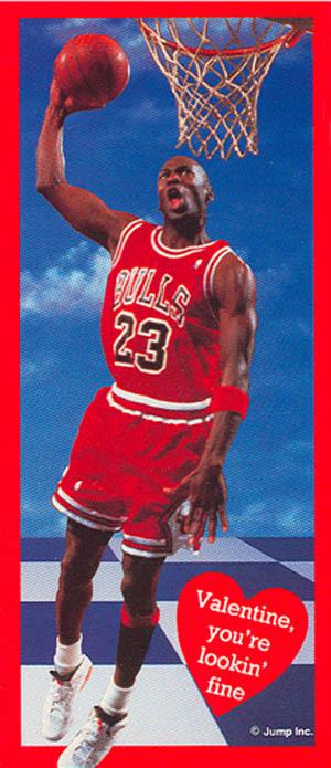 Vintage Michael Jordan 1980s Valentines Day Valentine