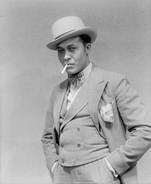 """Percy Verwayne (1895-1968) was the original Sportin' Life in the 1927 Broadway DuBose and Dorothy Heyward play, """"Porgy,"""" the precursor to the iconic 1935 George Gershwin opera """"Porgy and Bess."""" Mr. Verwayne was born in British Guiana (now Guyana) and appeared on Broadway, on radio and in several films for at least thirty years, but he was best known in his day for originating the role of Sportin' Life. He was also a former athlete and that came in handy in 1941 when he was robbed of 75 cents by a very unwise 18-year-old within two blocks of his Harlem home at 400 West 128th street. The incident was gleefully reported in the New York Amsterdam News on August 9, 1941 under the headline, """"Mugger Gets Wrong Victim."""" According to the paper, when the mugger tried to run away, """"Verwayne chased him for a block, grabbed him by the seat of his trousers and socked him into submission. When the cops arrived, Verwayne was in complete control of the situation."""" I'll bet he was… haha!Photo: New York Public Library, Billy Rose Theater Collection."""