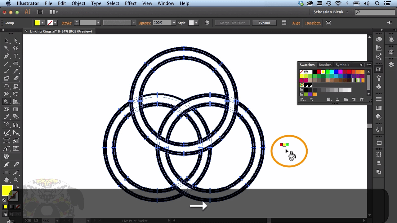 Adobe Illustrator CC Linked Rings