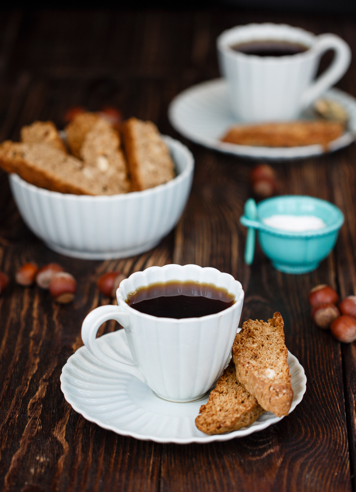 Coffee biscotti with nuts (via Julicious)