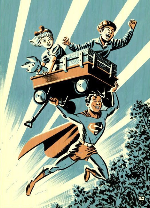 superboy wagon with kids