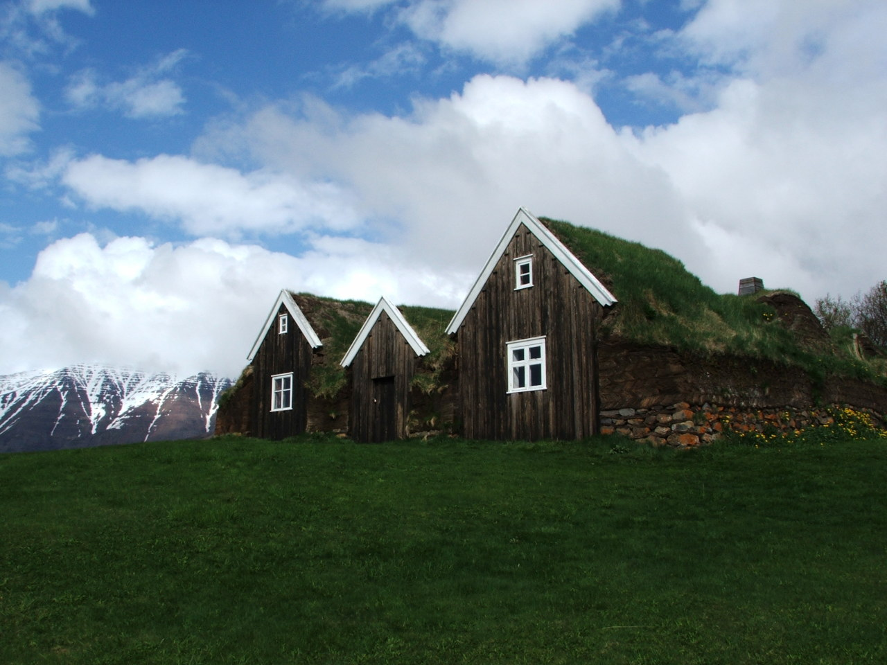 Cabins in Hólar, Iceland. Contributed by Shawna Nelson.