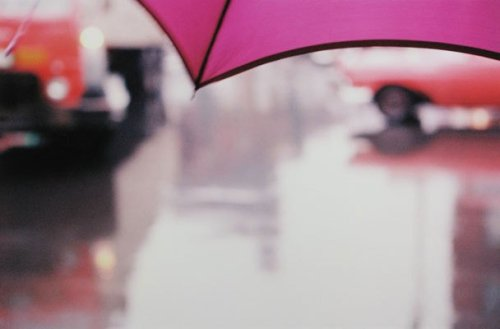 """""""Untitled (pink umbrella),"""" Saul Leiter It's amazing to think Leiter and Eggleston's beautiful early color photographs were initially considered so gauche."""