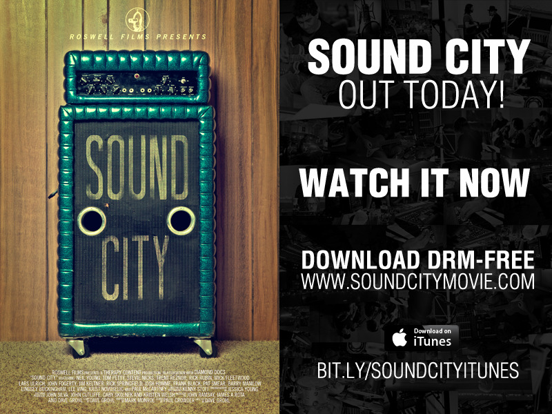 Have you seen it yet? Watch it RIGHT NOW at http://www.soundcitymovie.com/Get it on iTunes at http://bit.ly/SoundCityiTunes Do it for Rock and Roll