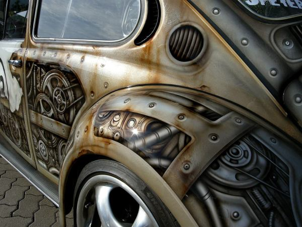 Geek Art Vehicle Steampunk Herbie