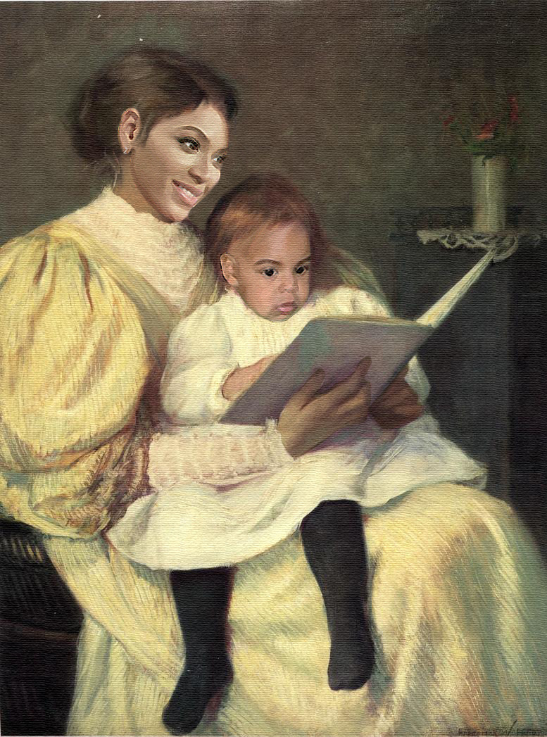 In a touching moment of quality time, Bey reads Blue an excerpt from Suri's Burn Book.
