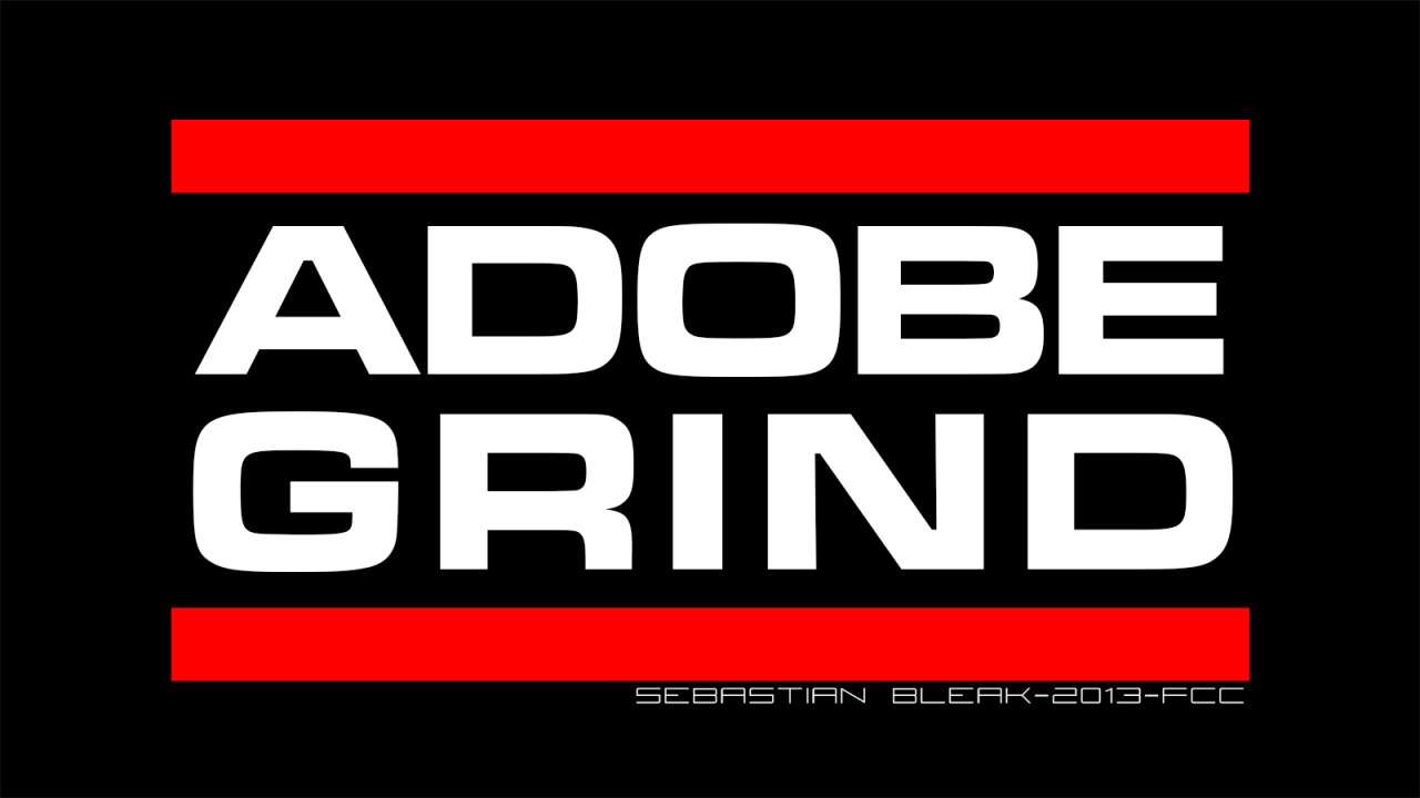 Adobe Grind RUN DMC logo