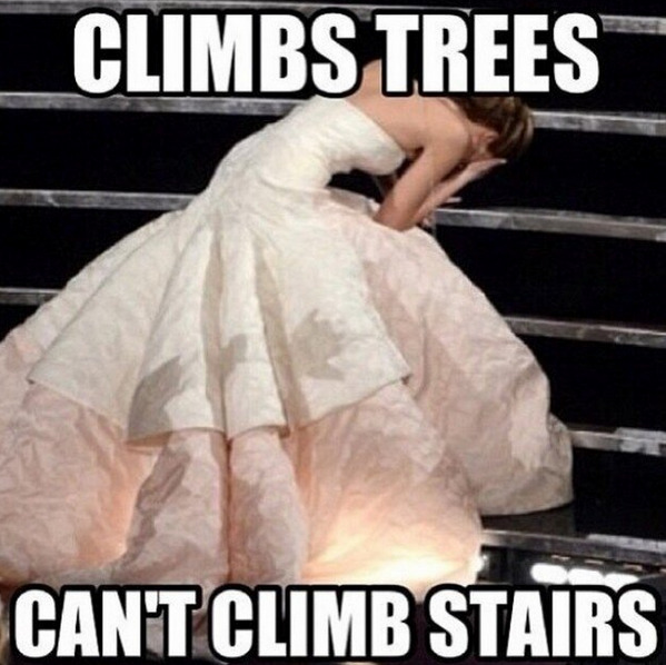 jennifer lawrence oscars fall