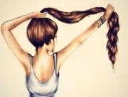 pretty drawing hair girl fashion