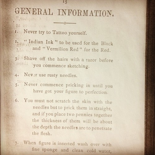 How to Tattoo Manual in 1896..!!