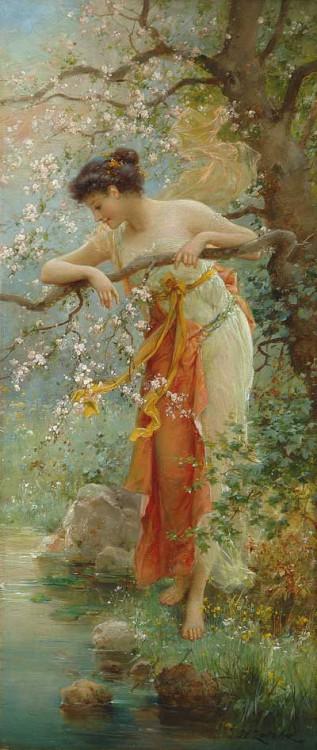 thefallofkain:</p> <p>Hans Zatzka, Spring Beauty<br />