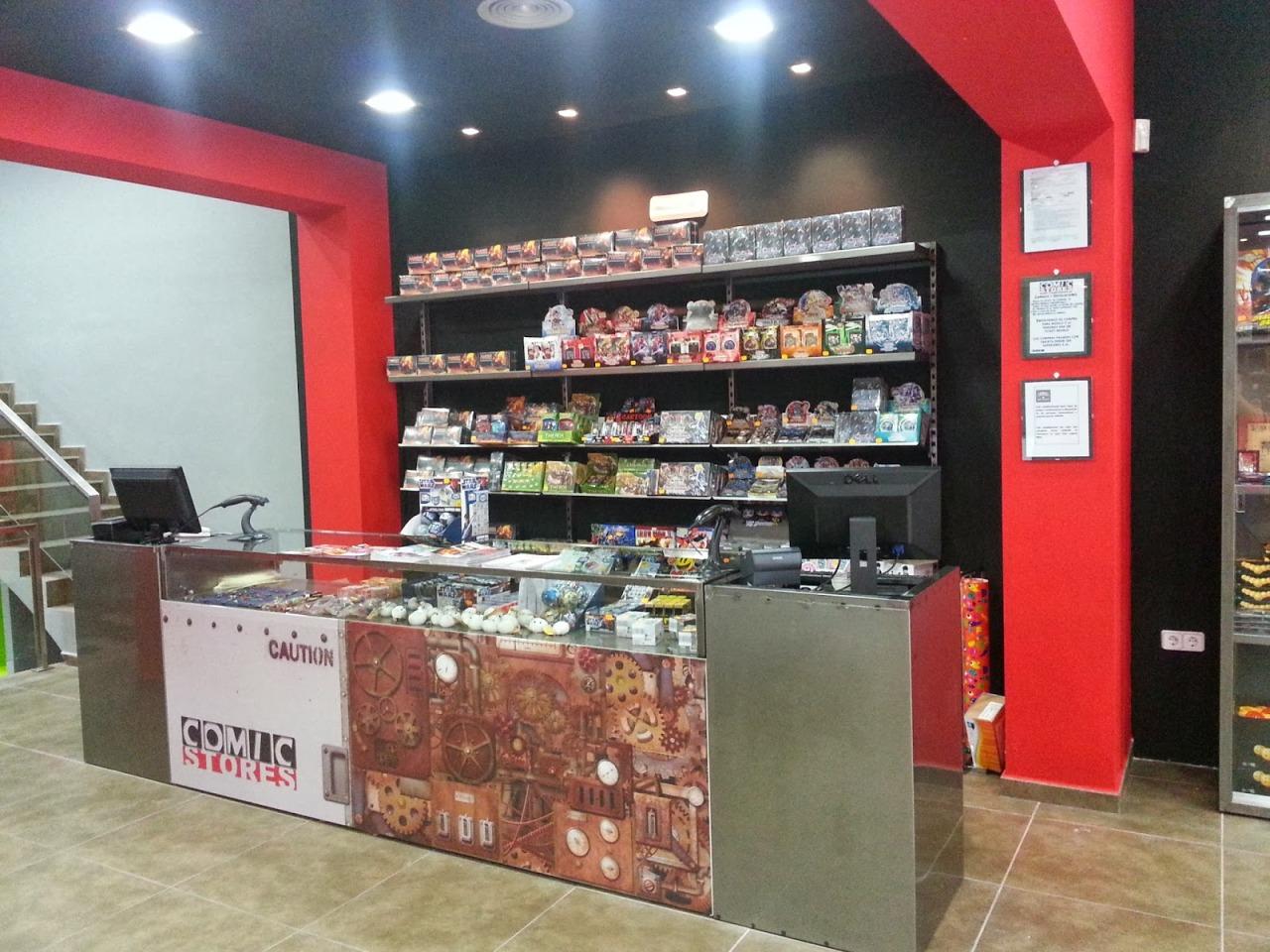Mostrador en Comic Stores