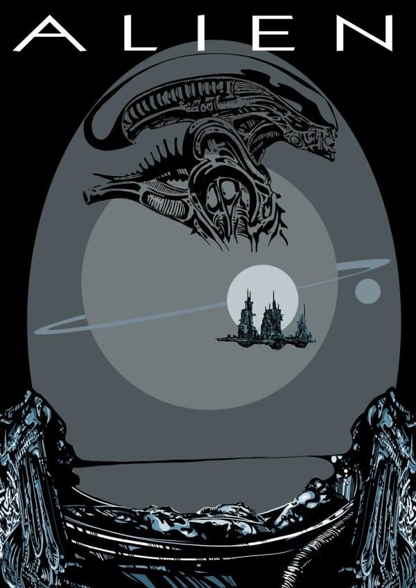 Cool Alien Movie Poster