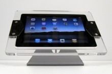 Impress CLEAR iPad Enclosure (for iPad 2,3)</p> <p>Theft resistant security fasteners keep the iPad safe. Security wrench included.<br /> Includes 3 different Lock tabs. 1 Open for Home button, 1 pin hole access to home button, 1 no hole.<br /> Standard VESA mounting patterns 75 x 75, 100 x 100 for use with almost any VESA mount on the market.<br /> Power routing management. Allows the iPad to be plugged in at all times with any mount.<br /> Does not interfere with wireless or cell service to iPad.<br /> Fits iPad 2 and 3.<br /> Access to both cameras.<br />