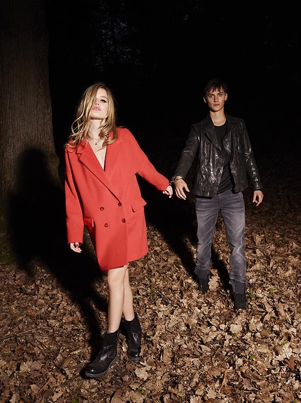 The last official image of Sisley Autumn-Winter 2013-14 campaign, starring Georgia May Jagger and Josh McLellan, shot by Olivier Zahm.