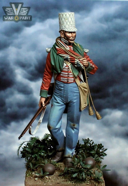 Private Perry, 24th Foot, Chillianwallah, 1849 / Box art Grenadier Miniatures 120mm