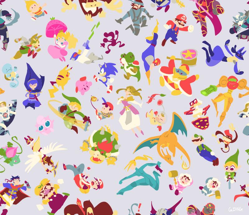 Gravity Falls Bill Iphone Wallpaper Gaming Pokemon Sonic Zelda Link Mario Kirby Peach Pit