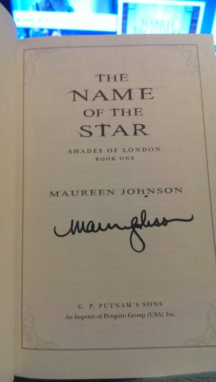 The Name Of The Star autograph
