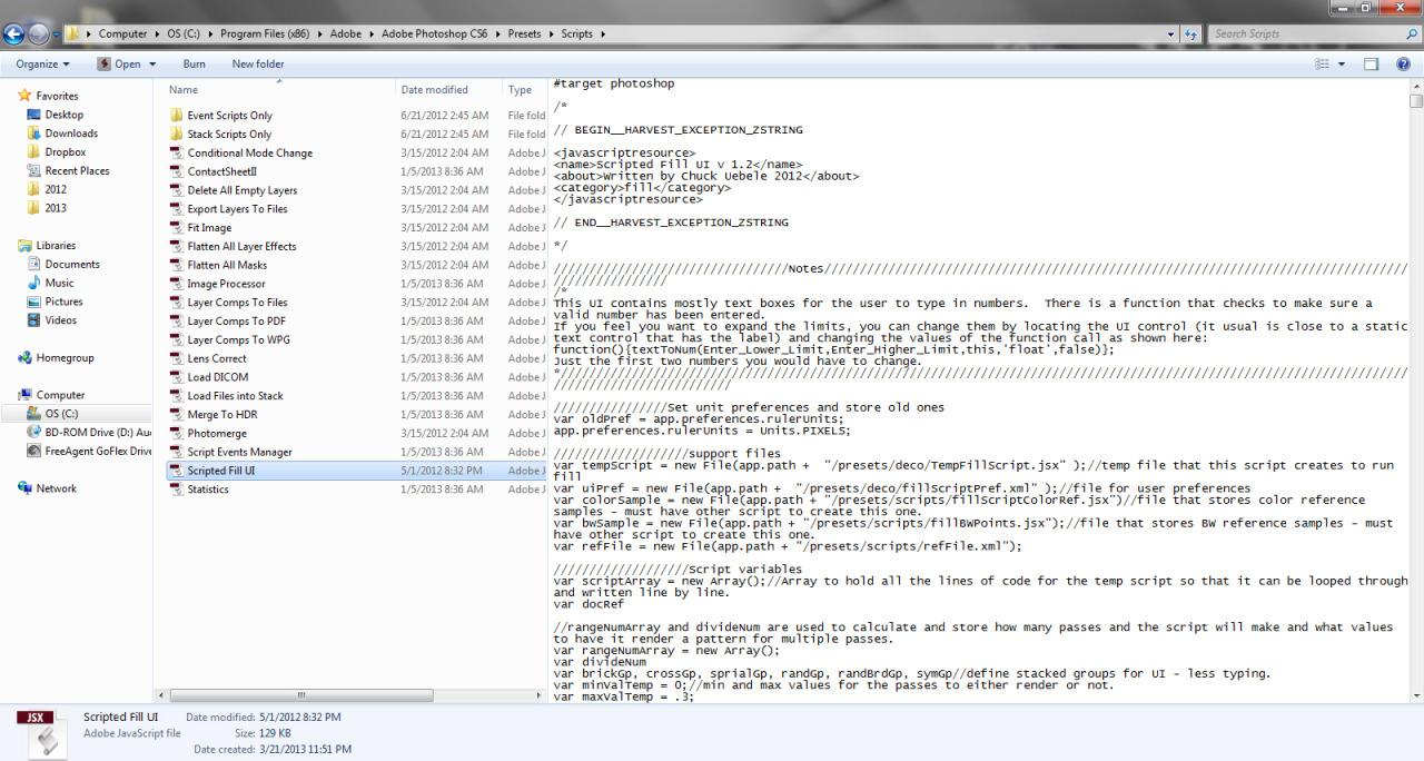 Scripted Fill UI install