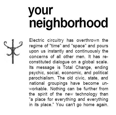 Marshall McLuhan, The Medium is the Massage 1964
