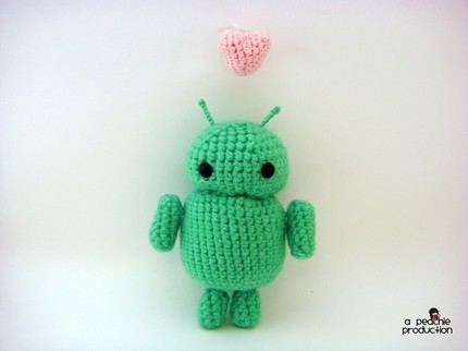 Google Android Robot Amigurumi Doll by apeachieproduction on Etsy