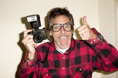 Ben with his Ricoh GXR(or Terry Richardson)