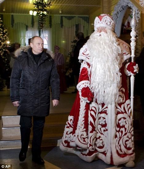 President Putin with Santa