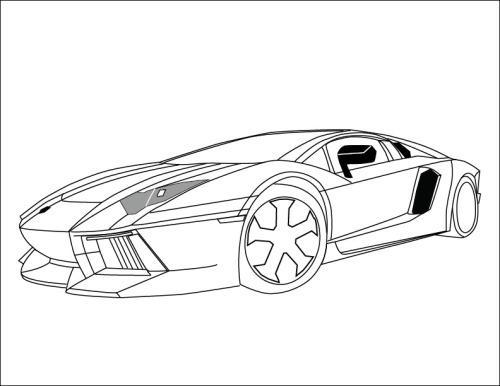 Outline of the new Lamborghini LP700 Aventador...
