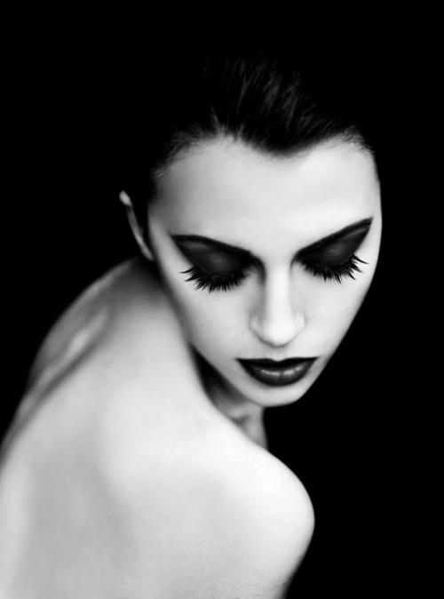 Black and white model photo