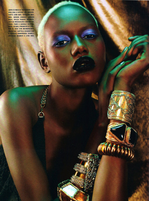 Ajak Deng by Emma Summerton for Vogue Italia February 2011