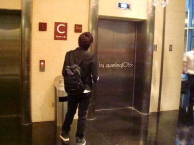Ryeowook waiting for elevator – From 110219 CR: as tagged
