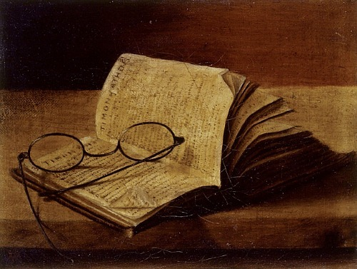 Painting of an open book