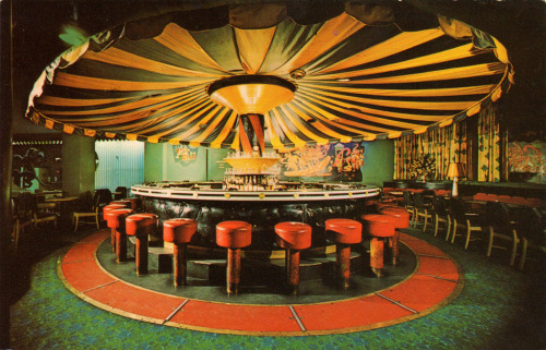 the rotating Carousel Bar in New Orleans' historic Hotel Monteleone.