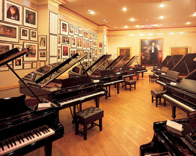 "The Steinway Hall in London was opened in 1875 and became the first Steinway Hall in Europe. It has showrooms as well as several practice rooms available for musicians of all ages. The ""piano bank"" at London's Steinway Hall consists mostly of Hamburg Steinways, and also has a few New York Steinways D-274, in order to satisfy a greater range of performing artists."