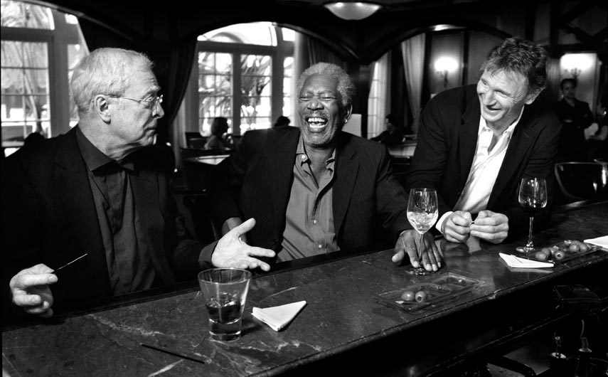 Michael Caine, Morgan Freeman & Liam Neeson (by Streiber)