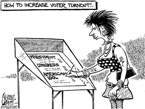 Political Cartoon Analysis: How to Increase Voter Turnout