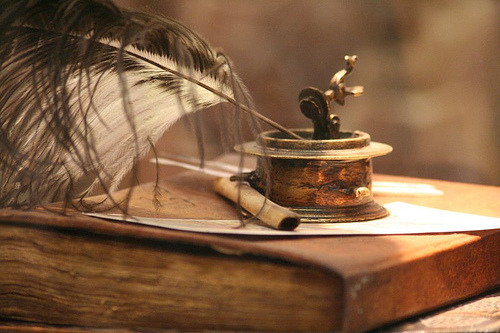 Quill and ink