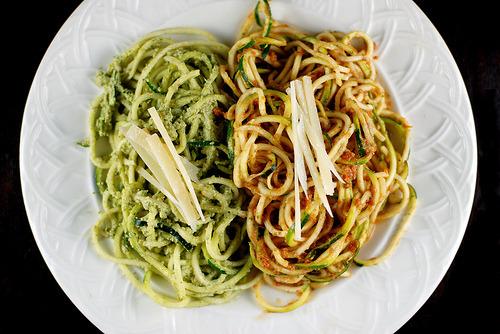 Raw vegan Zucchini pasta