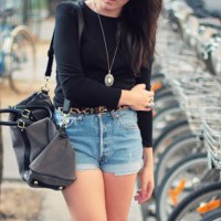 Outfits with denim shorts.