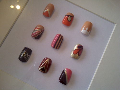 wahnails:</p> <p>Nails for Knightsbridge Topshop this weekend!</p> <p>Lusting after the top right, so gorgeous!