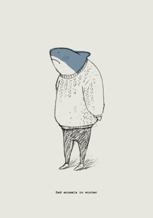 sad shark animals winter sharks drawings drawing animal easy care sweater don illustrations clothes painting cool sketches sketch hipster jealous