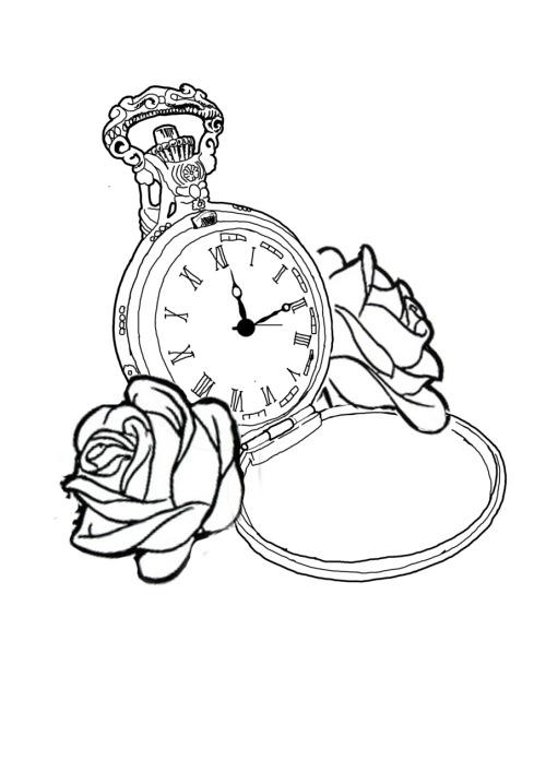 Vintage Clock Tumblr Drawing