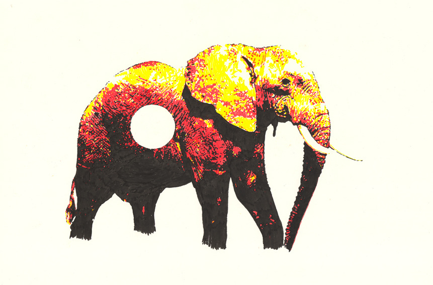 he finally did an elephant. brb dying