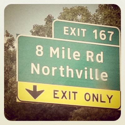 There's only one way out of 8 mile… One to get my rap battle on (Taken with instagram)